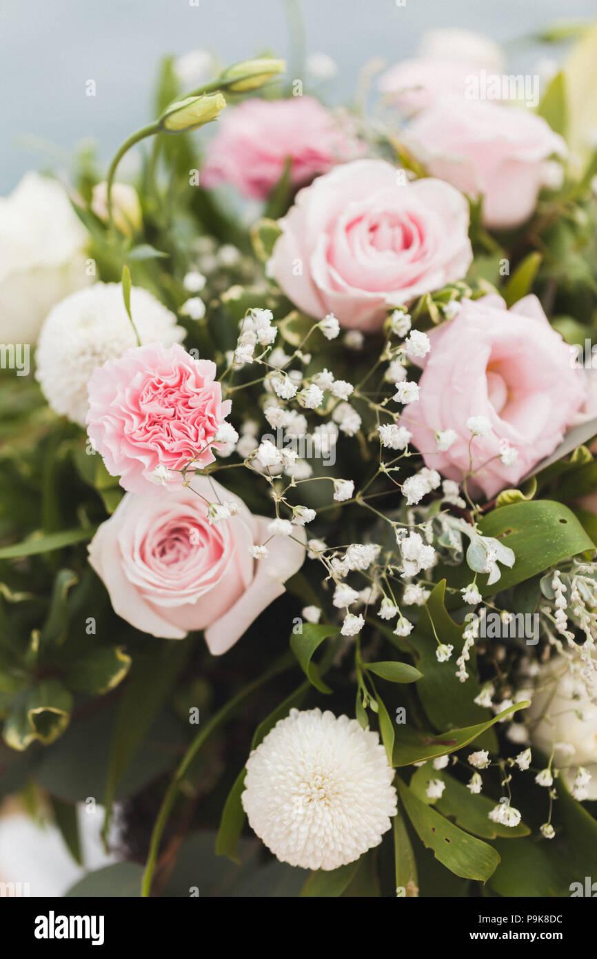 Hochzeit Blume Komposition Blumenstrauss Mit Sanftem Rosa Rosen