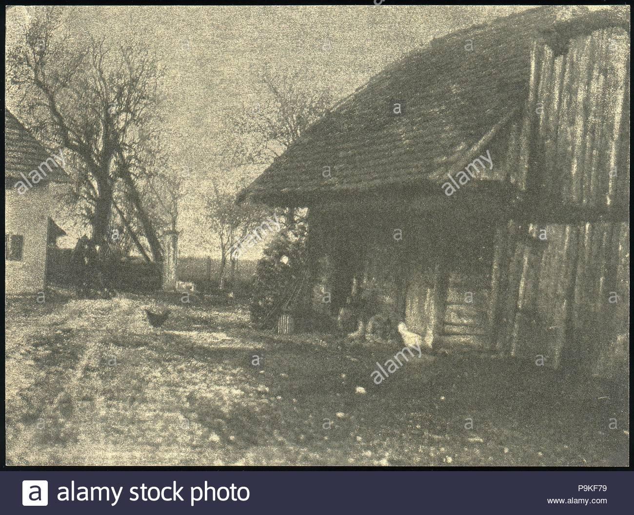 [Hof], 1886, Gum bichromate Print, 14,3 x 19,4 cm (5 5/8 x 7 5/8 in.), Fotografien, Frank Eugene (American, New York 1865 - 1936 München). Stockbild