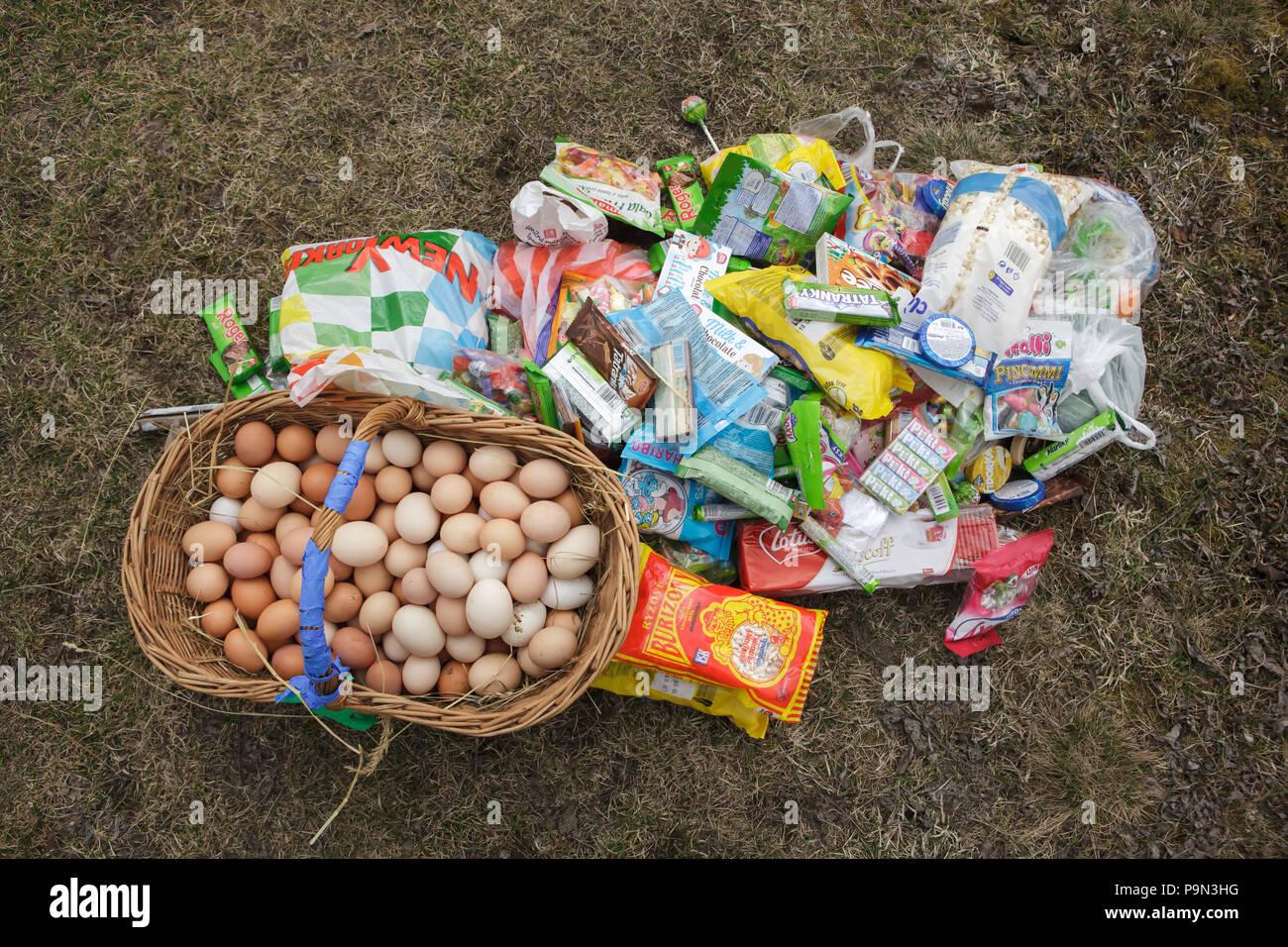 Schöne Traditionelle Ostern Prozession Bekannt Als Vodění Jidáše