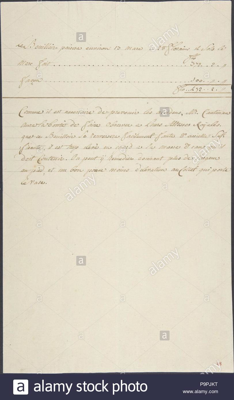 (32,5 X 41,1 Cm), Verschiedenes, Anonym, Französisch, 18. Jahrhundert,  Diese Arbeit Ist Teil Einer Sammlung Von Zeichnungen Für Möbel ...