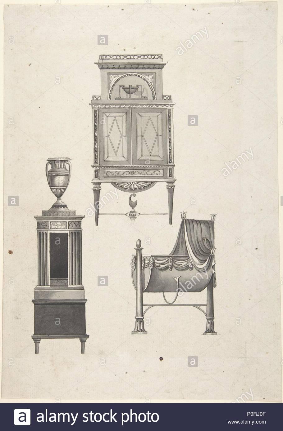 Design für Möbel in einer Variation der Stil von Thomas Sheraton ...