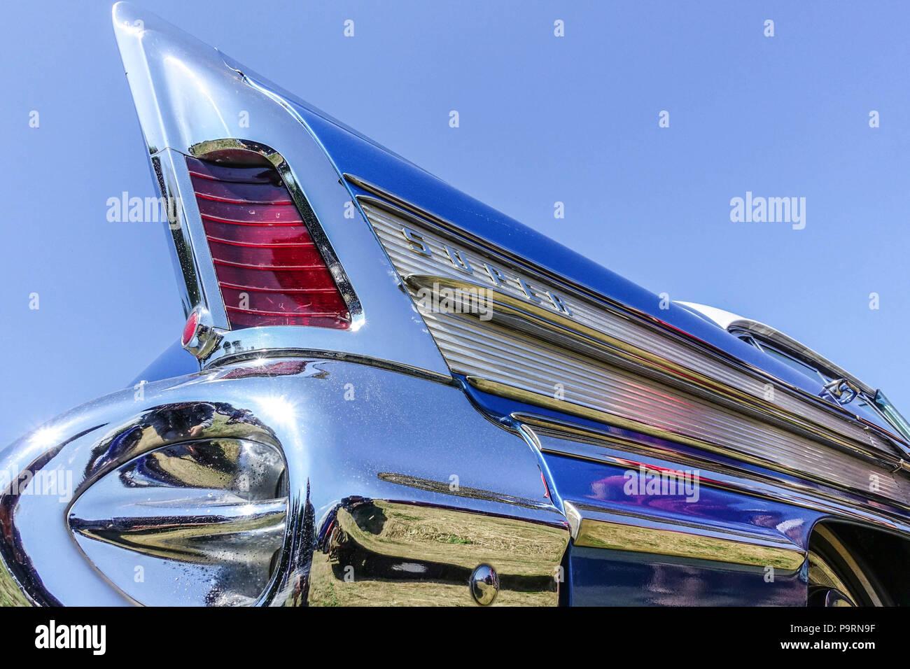 Buick Super Rivera 1958, Schlußleuchten, American Classic Car Stockbild