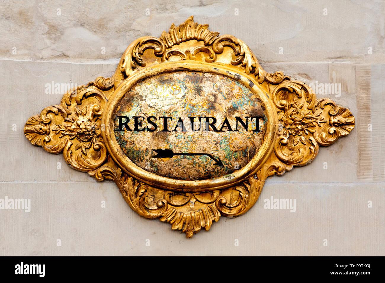 Altes Restaurant, Deutschland Stockbild