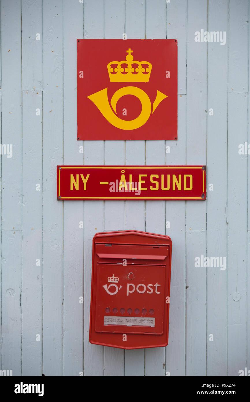 Ny-Ålesund, Spitzbergen, Post Stockfoto