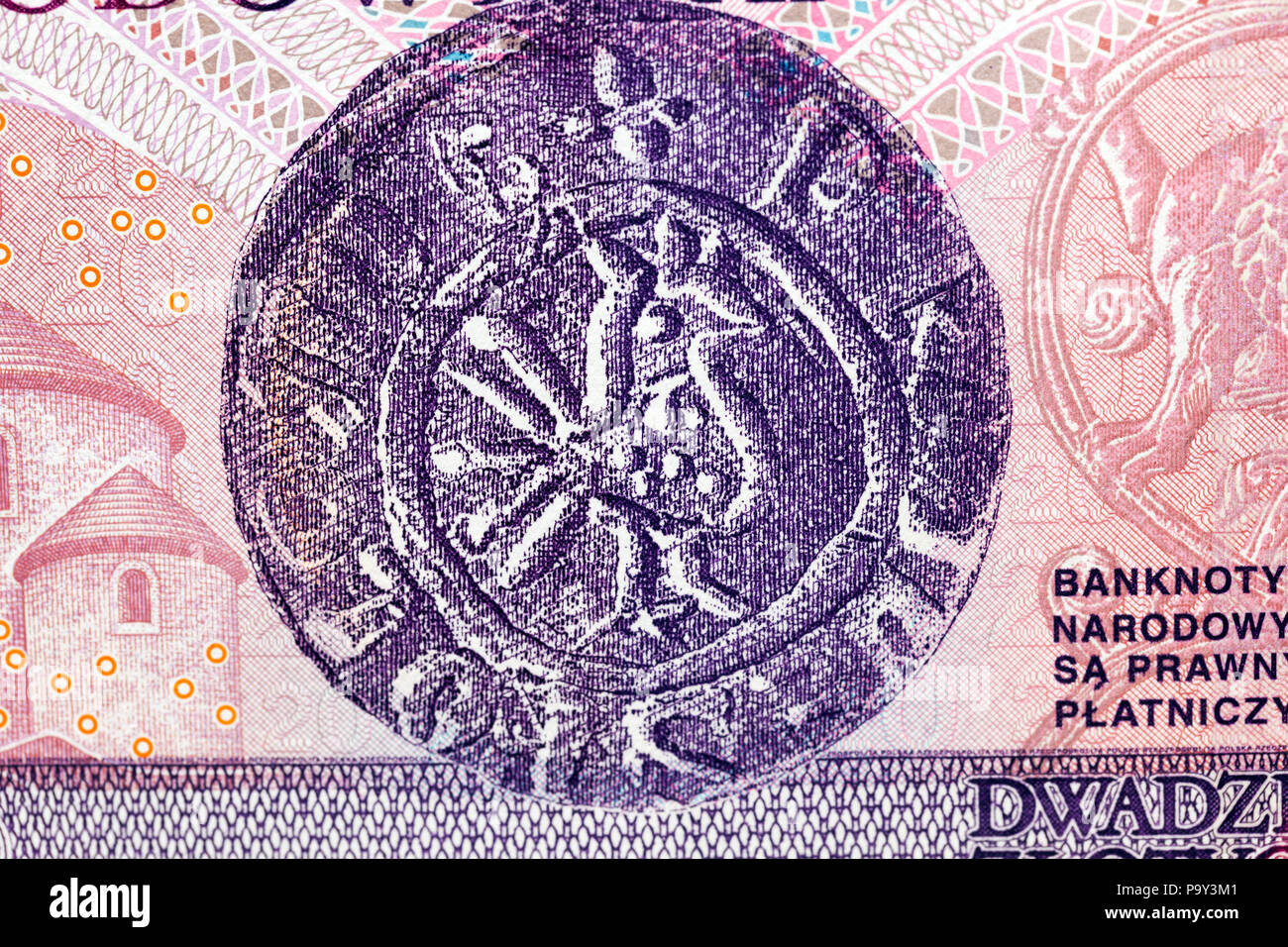Polnische Banknoten In Der Nähe Fotografiert Geld Wert 20 Zloty