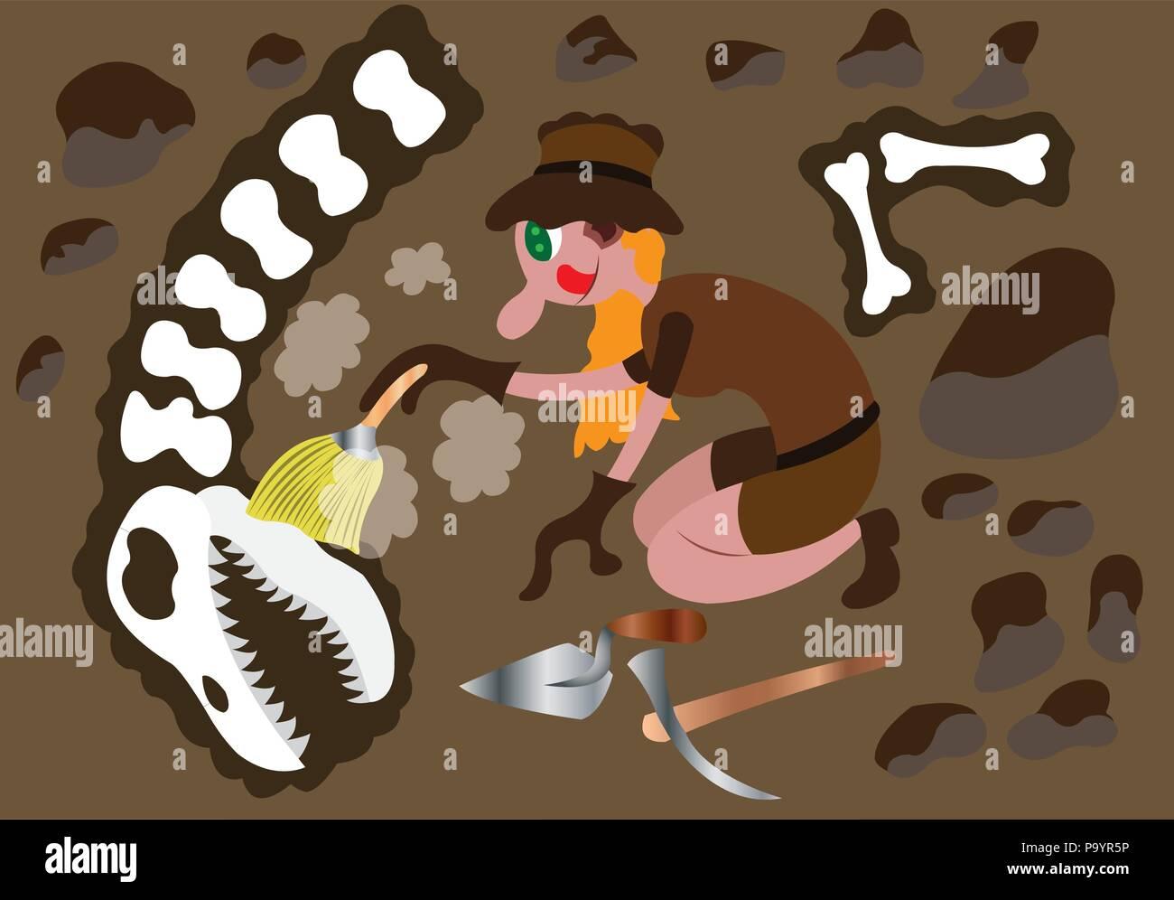 Kohlenstoff datiert Dinosaurier-Knochen