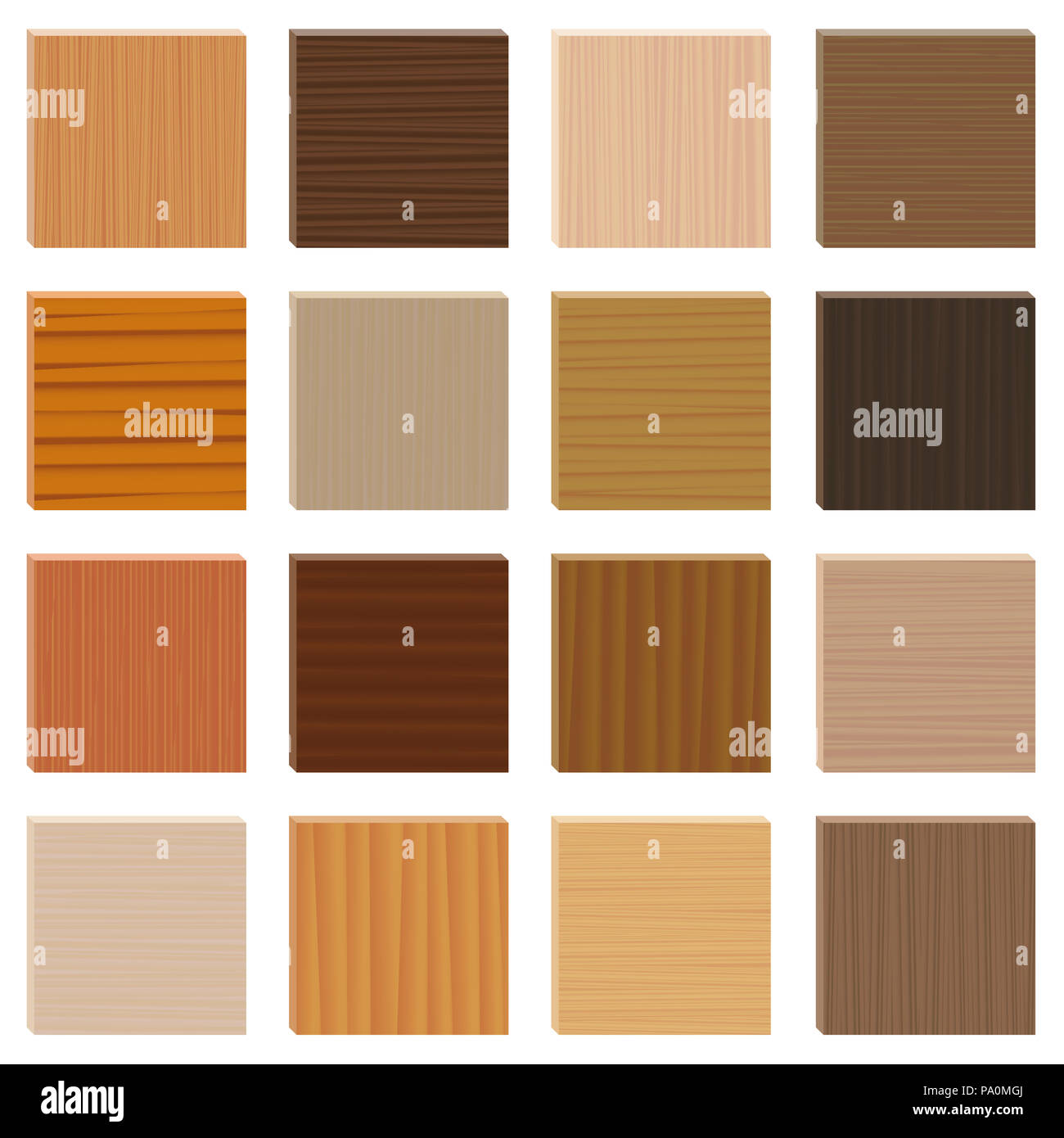 Berühmt Holz Proben. Sortierte Parkett Arten gesetzt. Holz- platten mit ZW17