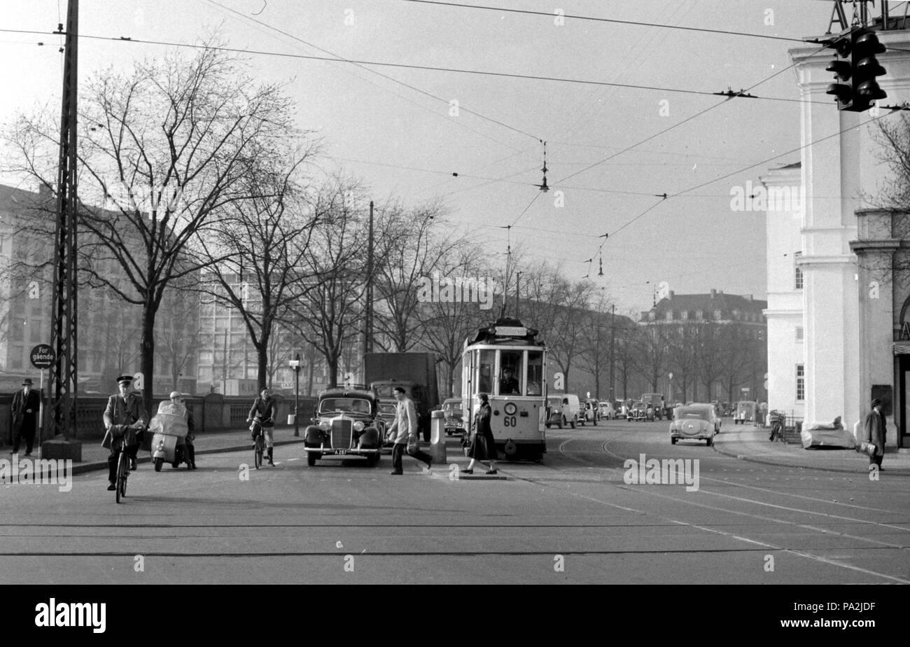 150 KS Linie 4 auf rådhuspladsen Stockfoto