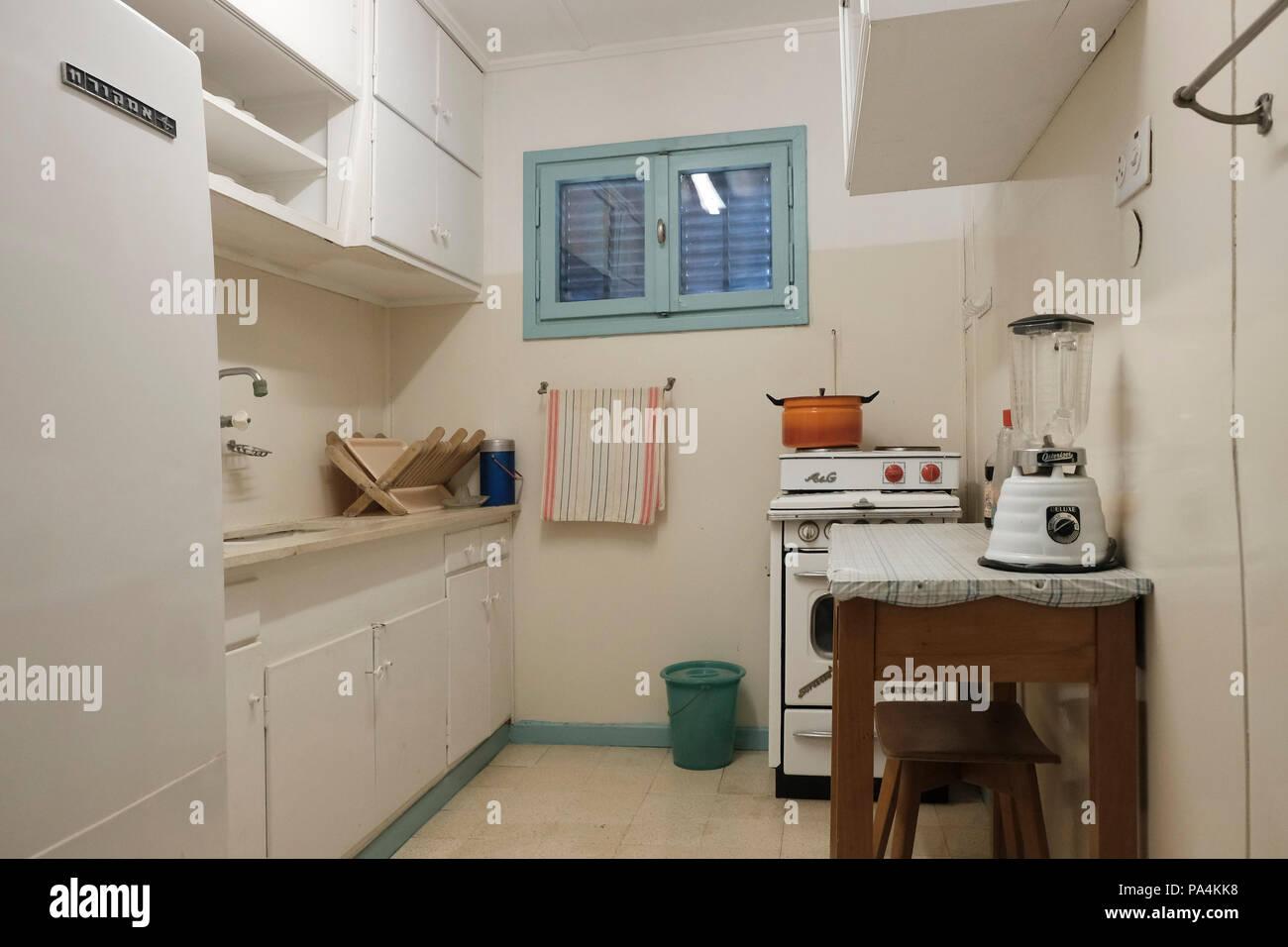 Die Küche des David Ben Gurion Hauses, war der primäre Gründer des ...