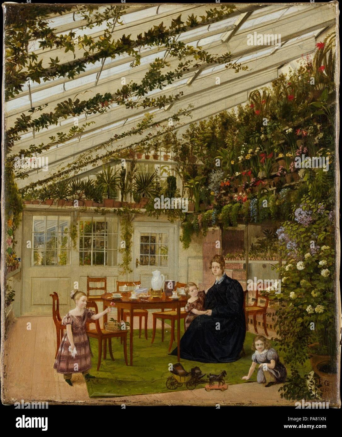 Die Familie Von Herrn Westfal Im Wintergarten Artist Eduard