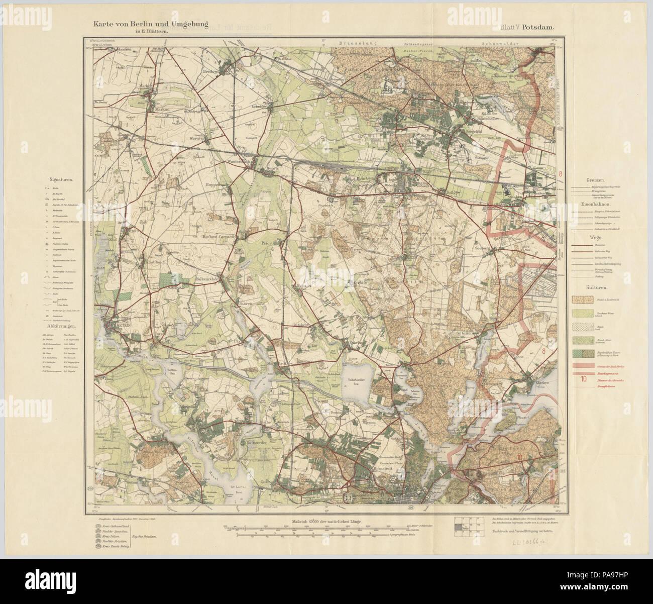Berlin Potsdam Karte.146 Karte Von Berlin Und Umgebung 1922 In 12 Blättern V Potsdam