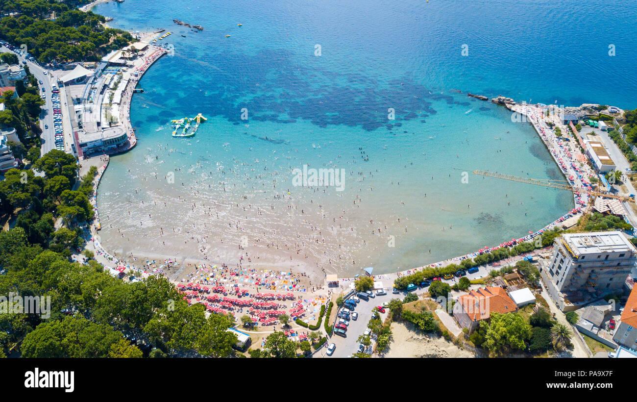 Strand Ba?vice, Split, Kroatien Stockbild