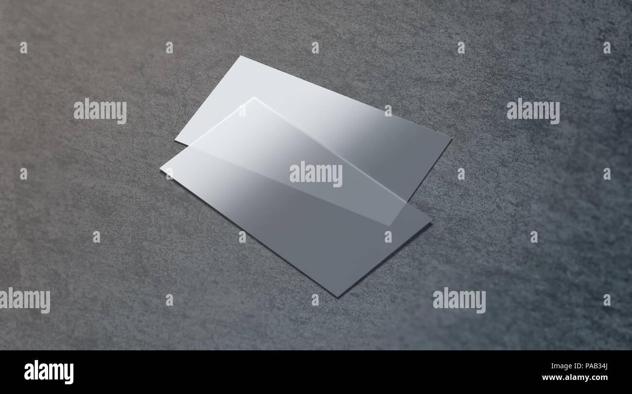 Leere Kunststoff Transparente Visitenkarte Mock Up 3d