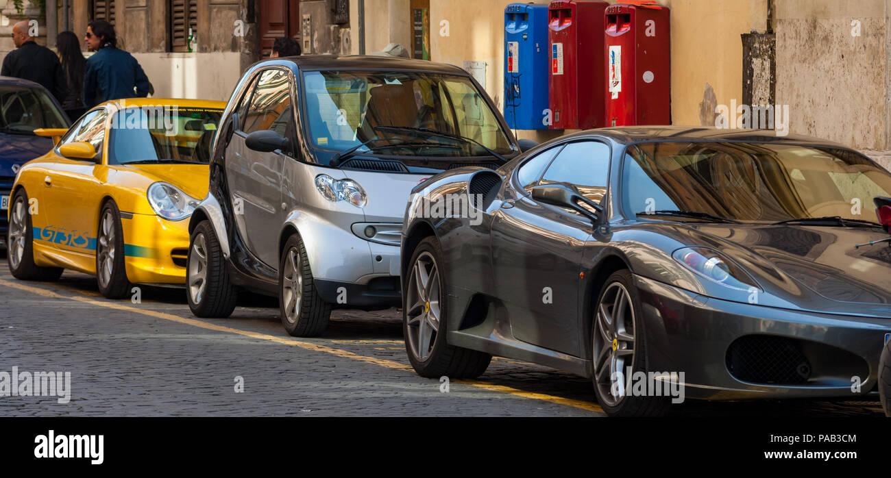 Ferrari Car In Rome Stockfotos Und Bilder Kaufen Alamy