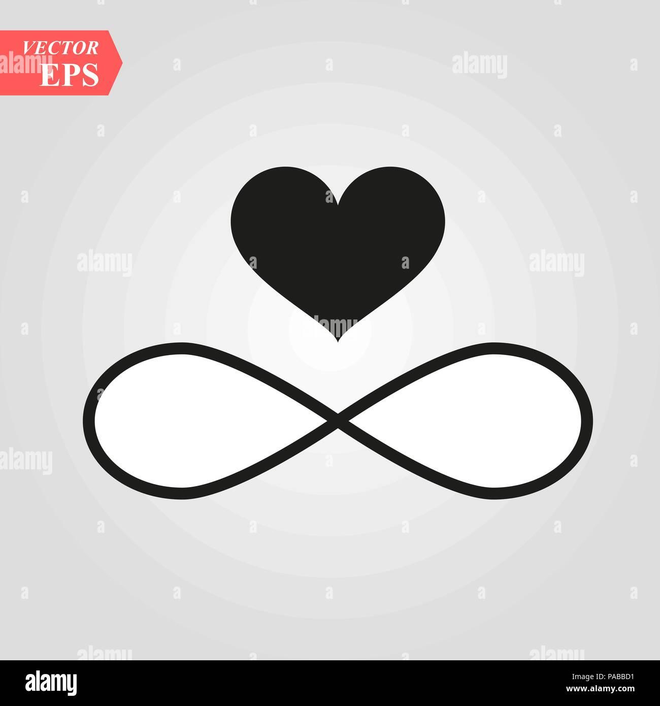 Zeichen Der Unendlichkeit Und Herz Symbol Element Der Hochzeit Fur