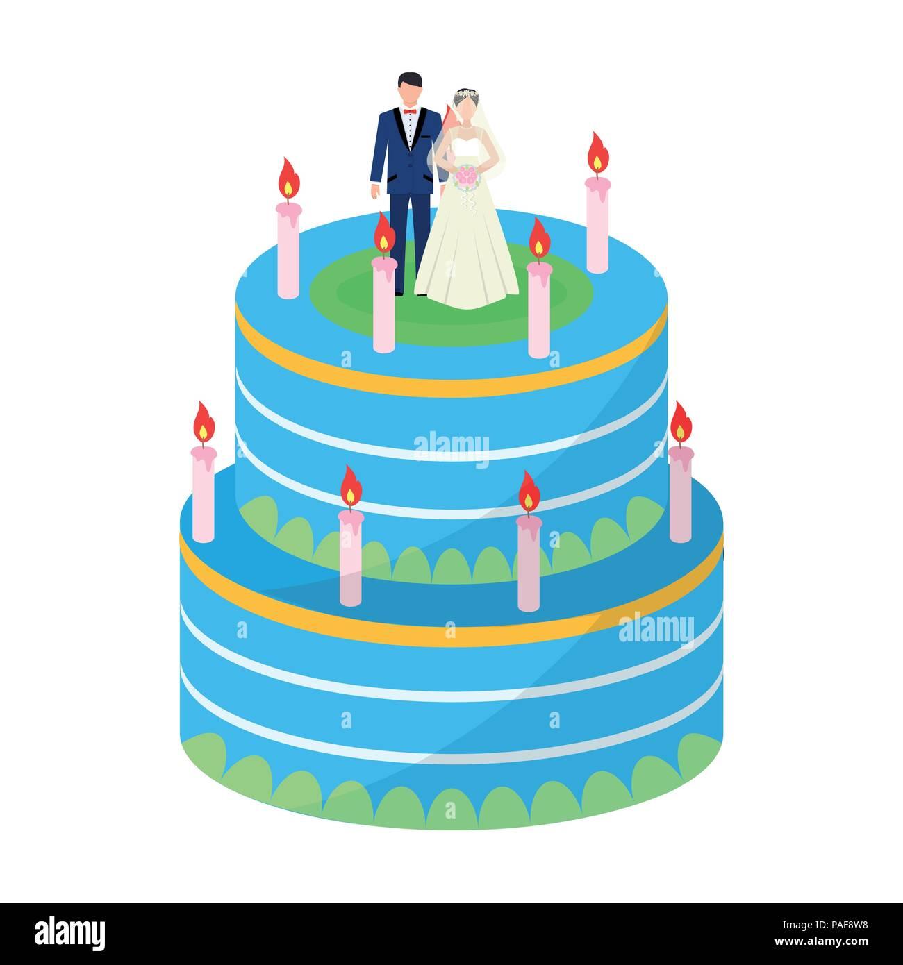 Eine Hochzeitstorte Behandeln Sie Die Gaste Zur Hochzeit Hochzeit