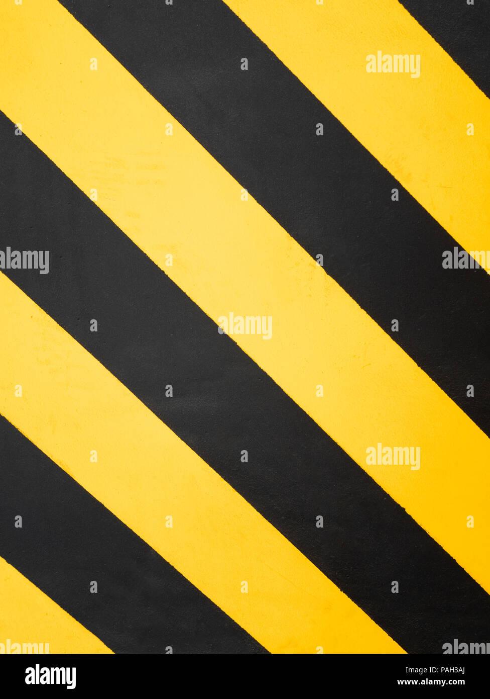 Fesselnd Gefahrenzone. Gelb Und Schwarz Warnzeichen. Muster, Schrägen Spritzer  Kopieren. Gefahr Konzept