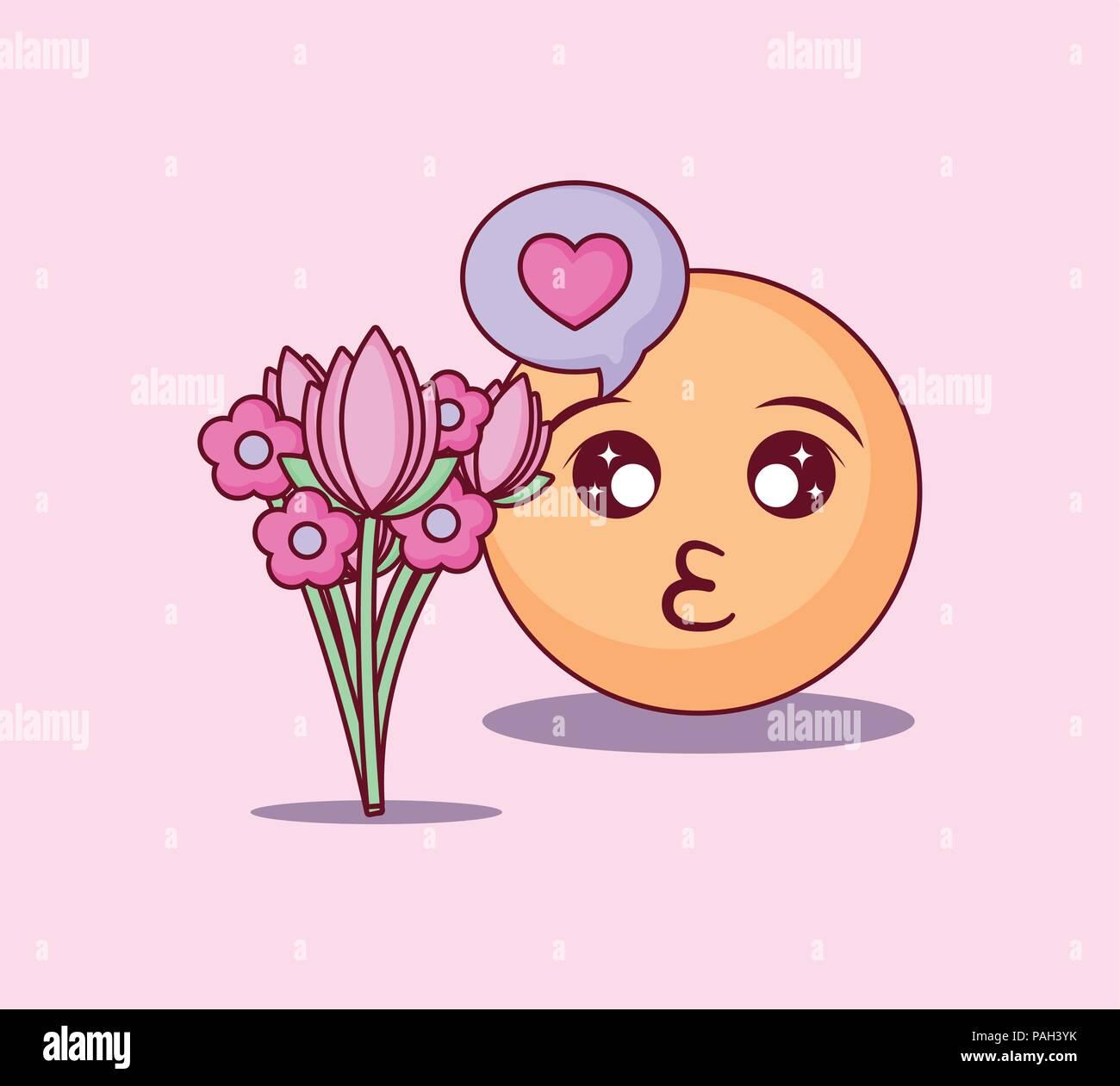 Blumenstrauß smiley mit ジ Japanese