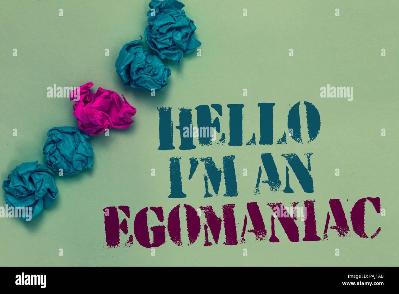 was ist ein egomane