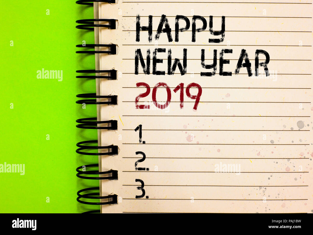 Wort schreiben Text Frohes Neues Jahr 2019. Business Konzept für ...
