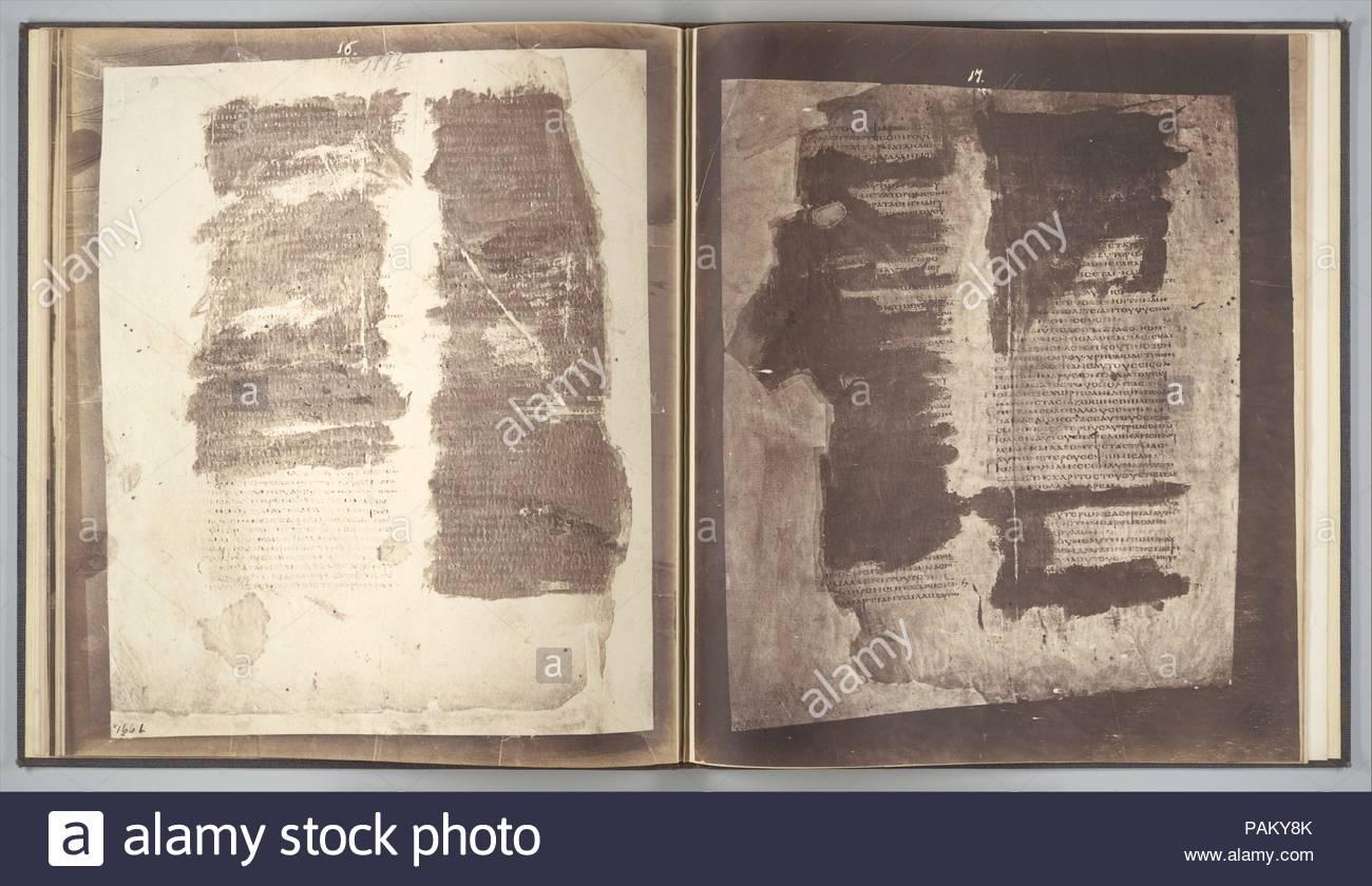 Fotografische Faksimiles Der Reste Der Briefe Des Klemens Von Rom