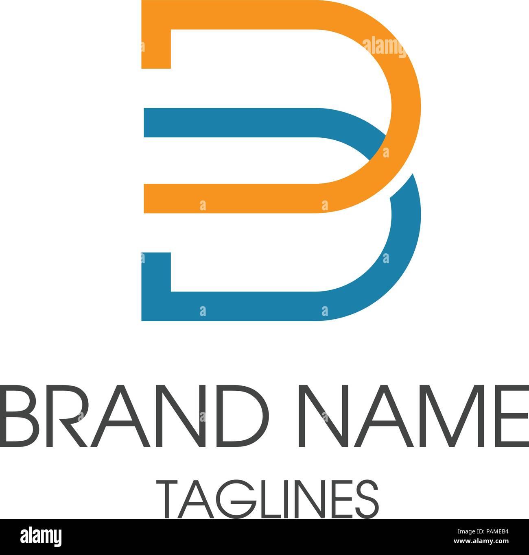Kreative B Schreiben Konzept Vektor Logo Vorlage Abstrakte