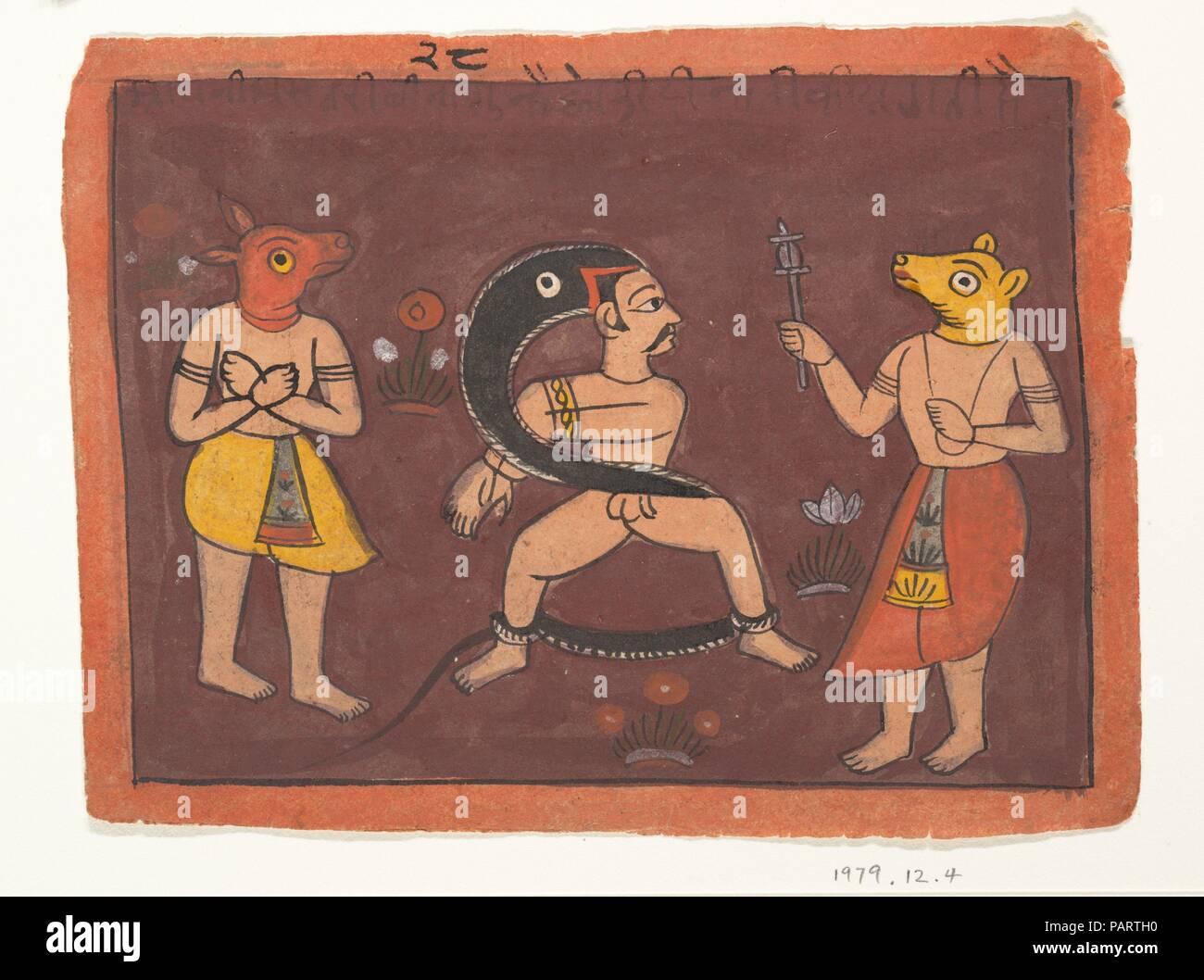 Folk Malerei. Kultur: Indien (rajasthan, Marwar). Abmessungen: 7 5/8 x 5 11/16 in. (19,4 x 14,5 cm). Datum: 1725. Museum: Metropolitan Museum of Art, New York, USA. Stockbild