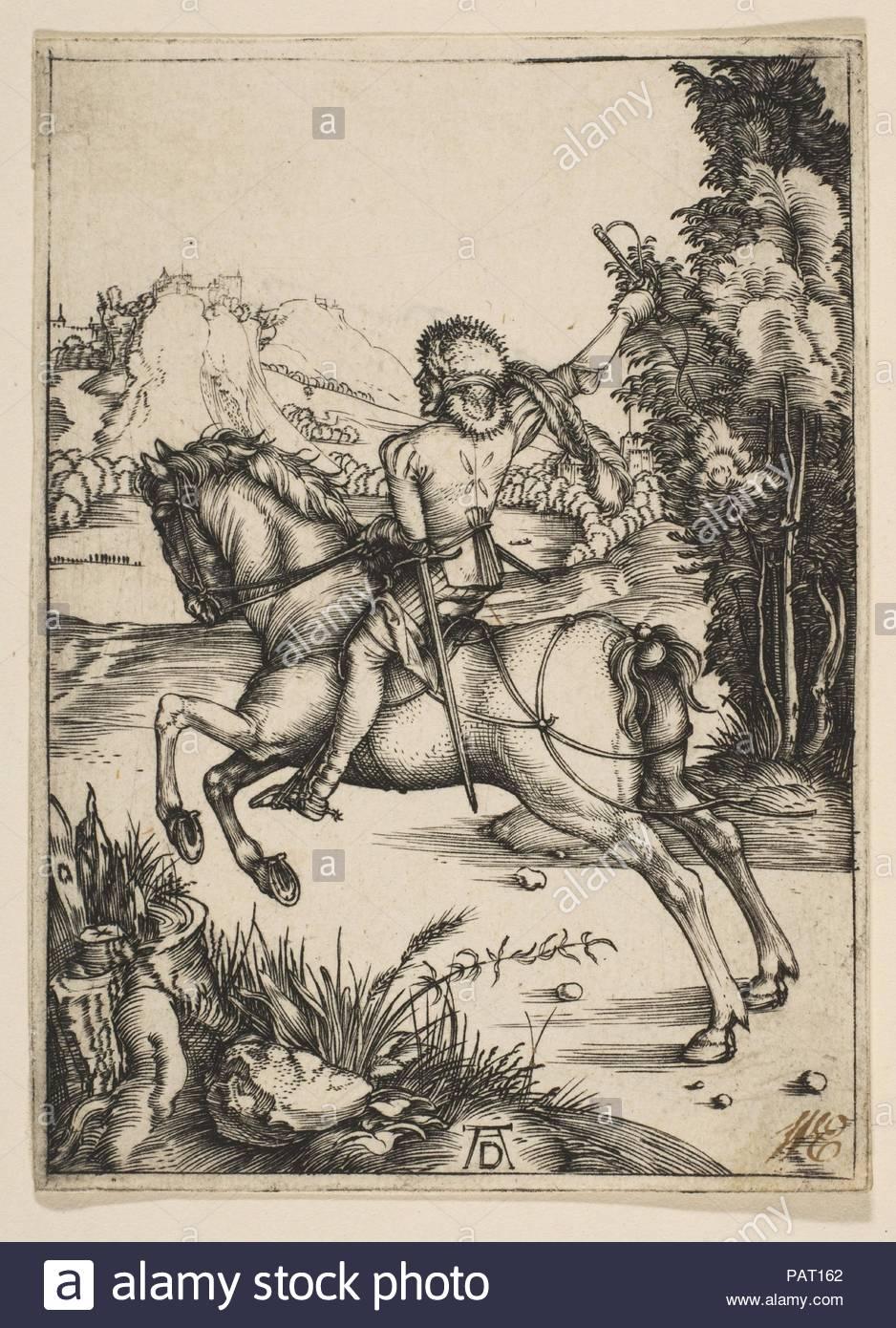 Der kleine Kurier. Künstler: Albrecht Dürer (Deutsch, Nürnberg 1471-1528 Nürnberg). Datum: n. d.. Museum: Metropolitan Museum of Art, New York, USA. Stockfoto