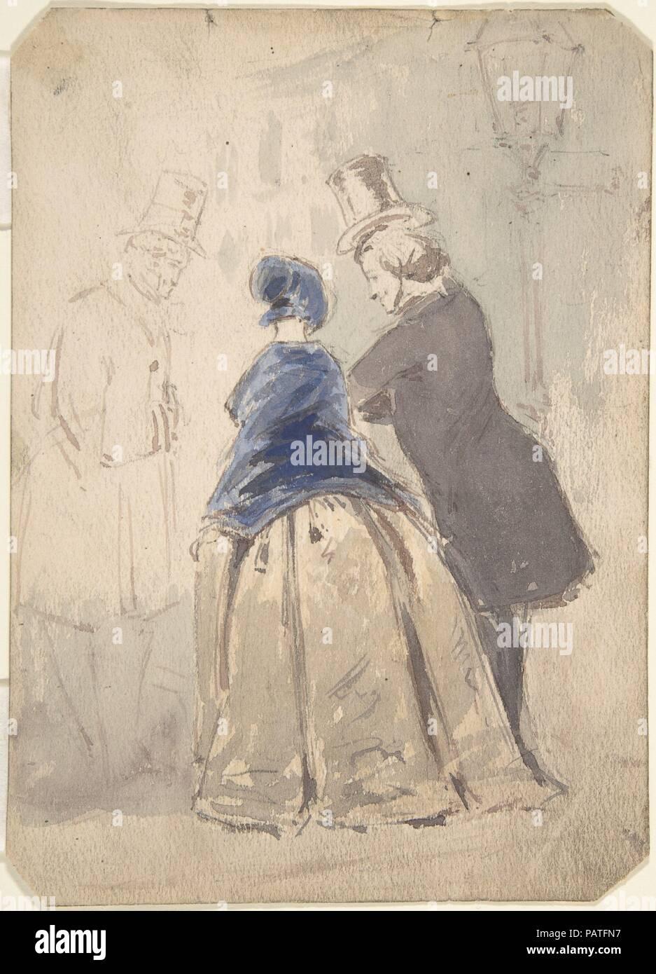 Street Scene von Vanity Fair, mit Amelia, George Osborne und Dobbin ...