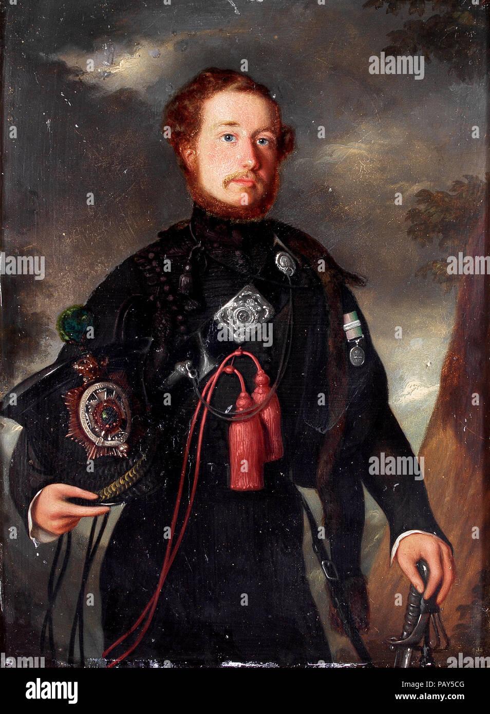Porträt von einem Beamten einer East India Company Rifle Regiment Stockbild