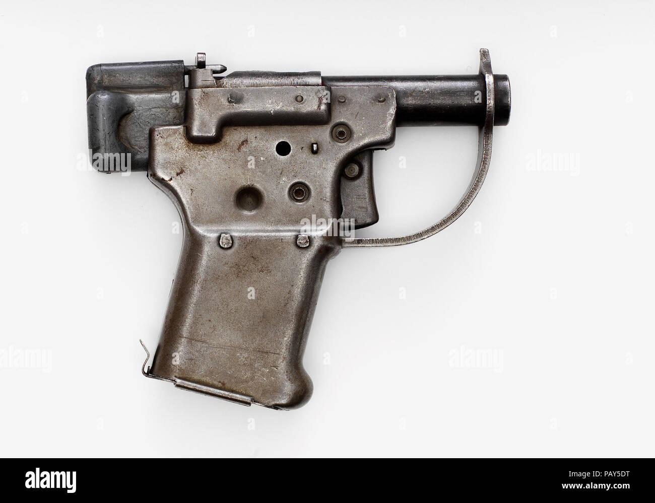Rp-45 Liberator centerfire Steißlage laden single shot militärischen Pistole Stockbild
