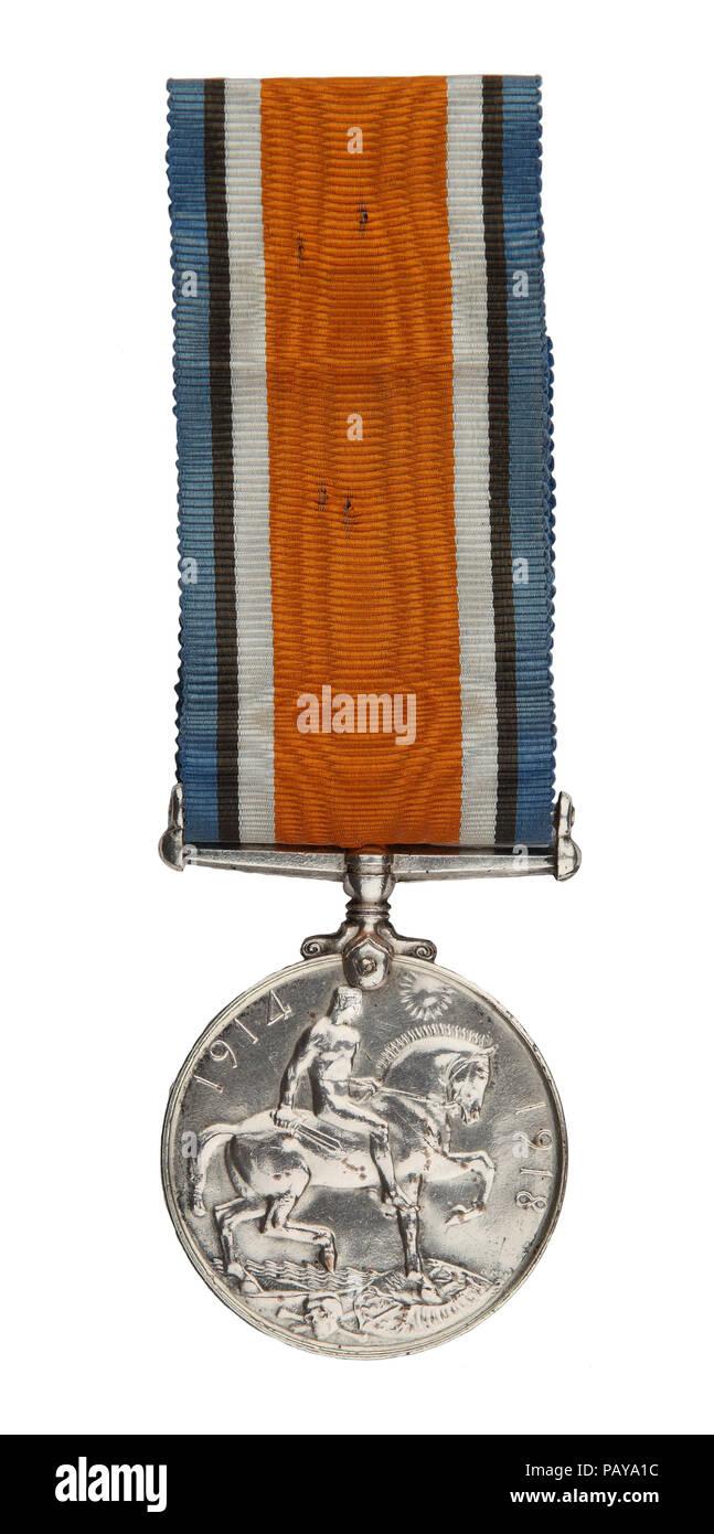 Weltkrieg ein britischer Krieg Medaille ('Squeak') Stockbild