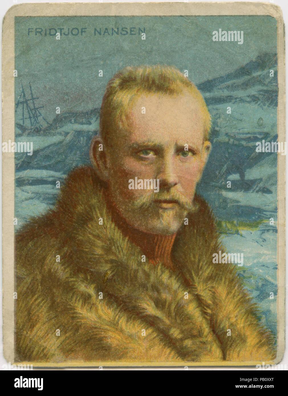 Fridtjof Nansen (1861-1930), Norwegische Forscher, Diplomat, der humanitären Hilfe und der Empfänger der Nobelpreis für den Frieden 1922, Porträt, 1890 Stockbild