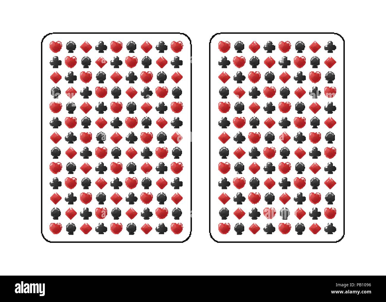 Die Rückseite der Karte. Poker und Bridge. Standard Größe. Vector Illustration. Stockbild