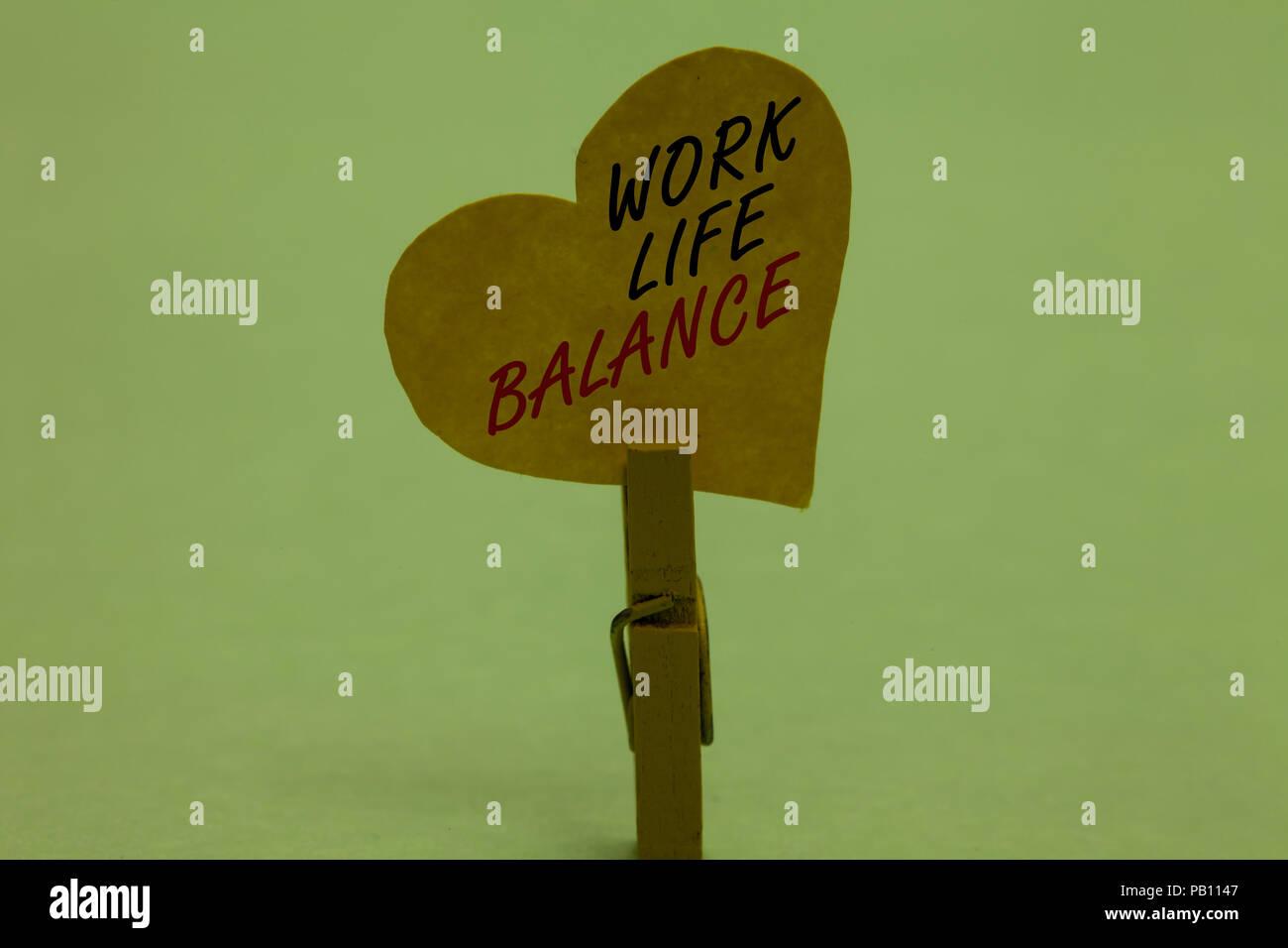 Handschrift Text Work Life Balance Begriff Sinne Abteilung Der Zeit