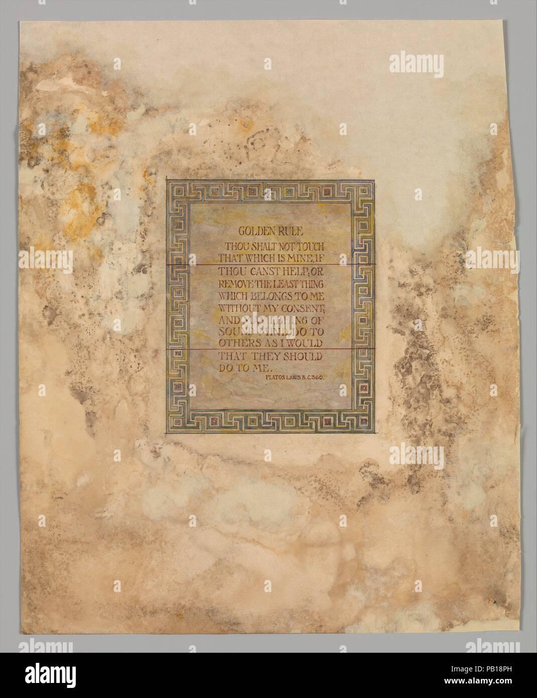 Design Für Mausoleum Fenster Künstler Louis Comfort Tiffany
