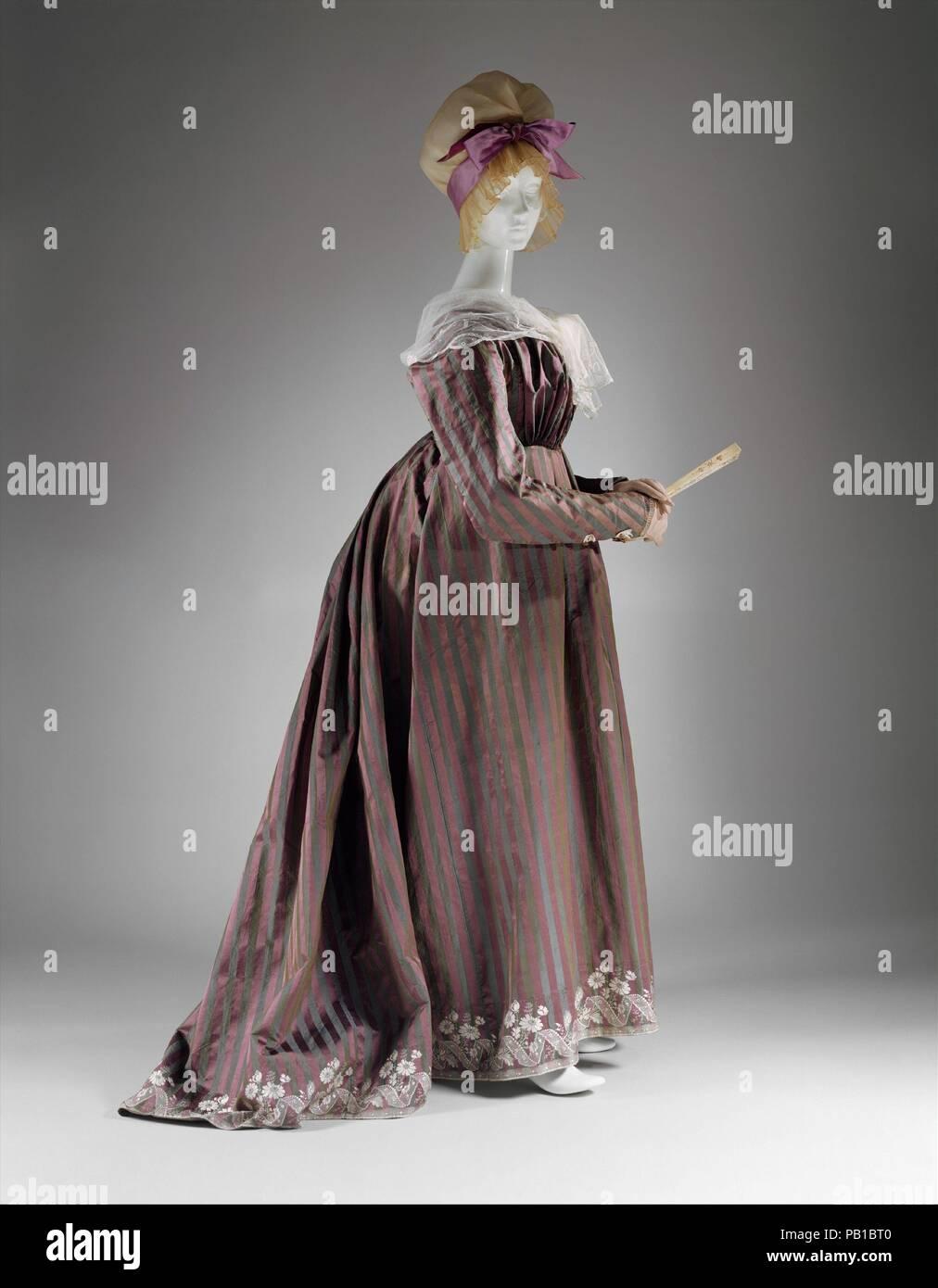 Runde Kleid Kultur Italienisch Datum Ca 1795 Von Den 1790er Jahren Die Struktur Der Kleidung War Sich Dramatisch Andern Am Nachmittag Kleid In Form Eines Runden Kleid Halt Sich Standhaft Den Schein