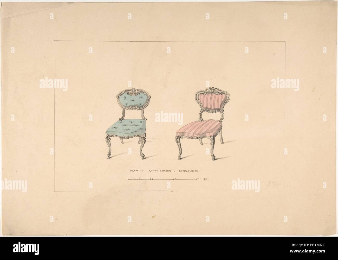 Design Für Salon Stühle Louis Quinze Stil Künstler Robert William