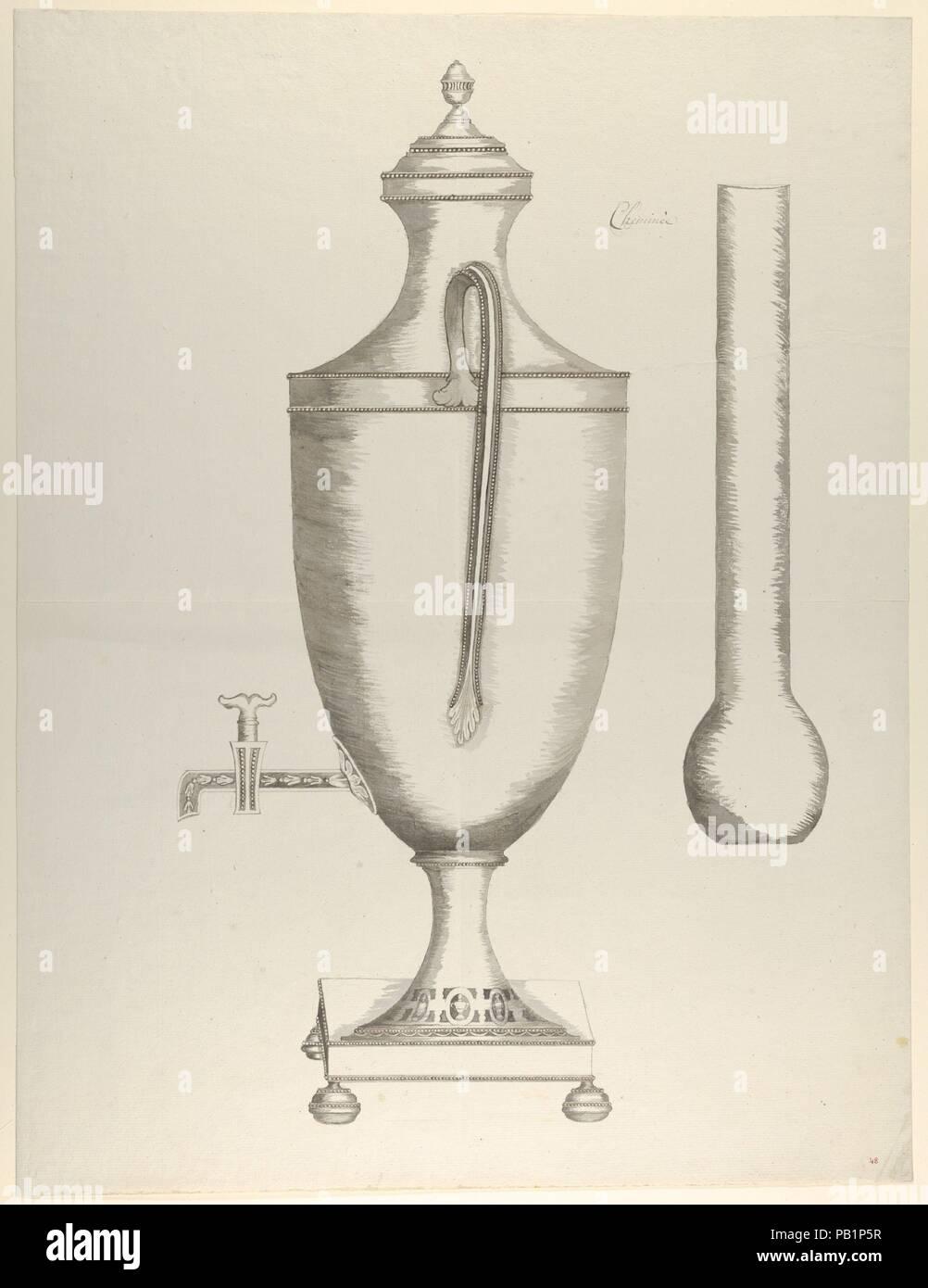Design Für Einen Kaffee Urn. Künstler: Anonym, Französisch, 18.  Abmessungen: 25 1/8 X 19 11/16 In. (63,8 X 50 Cm). Datum: Ca. 1770 90.