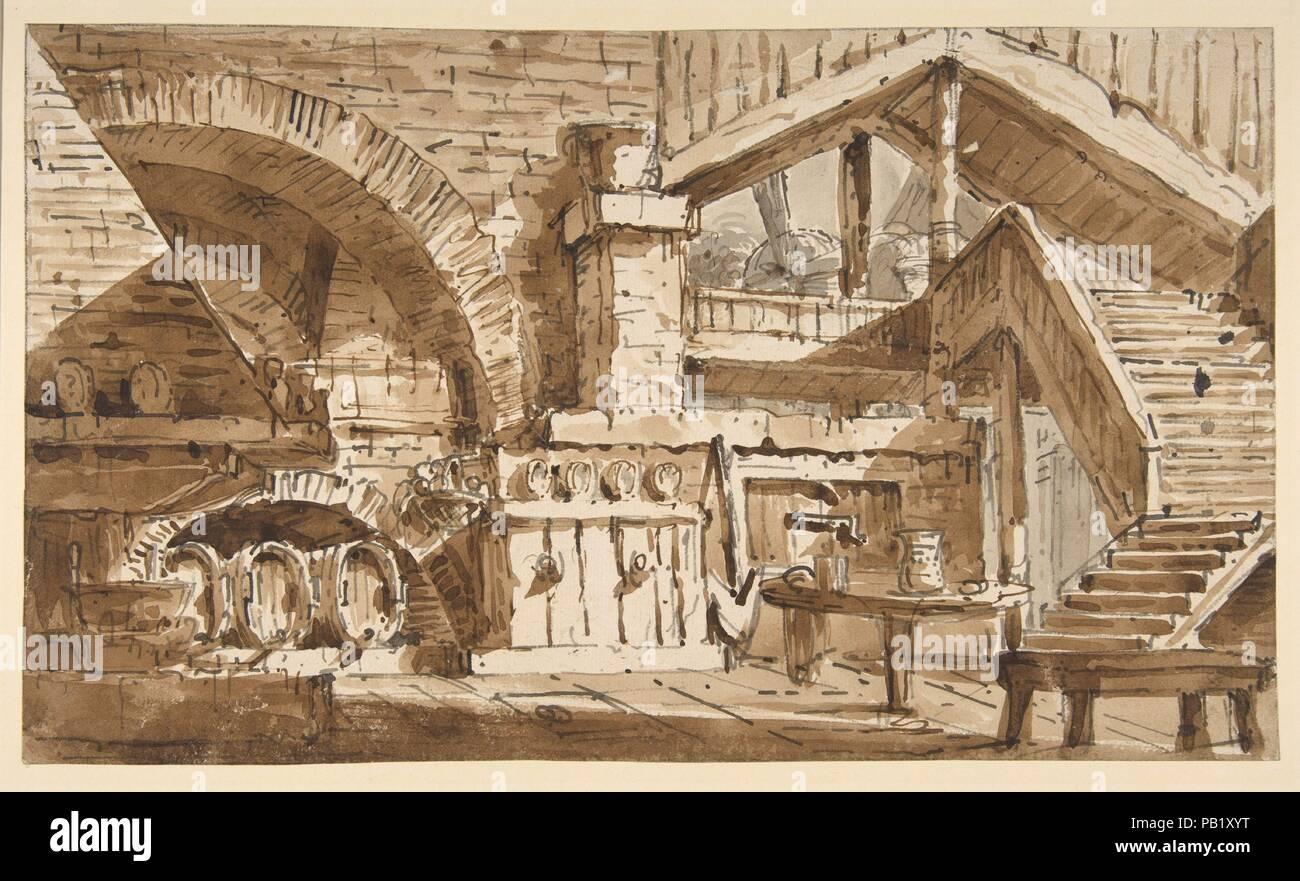 Design für ein Bühnenbild zeigen Interieur der rustikale ...