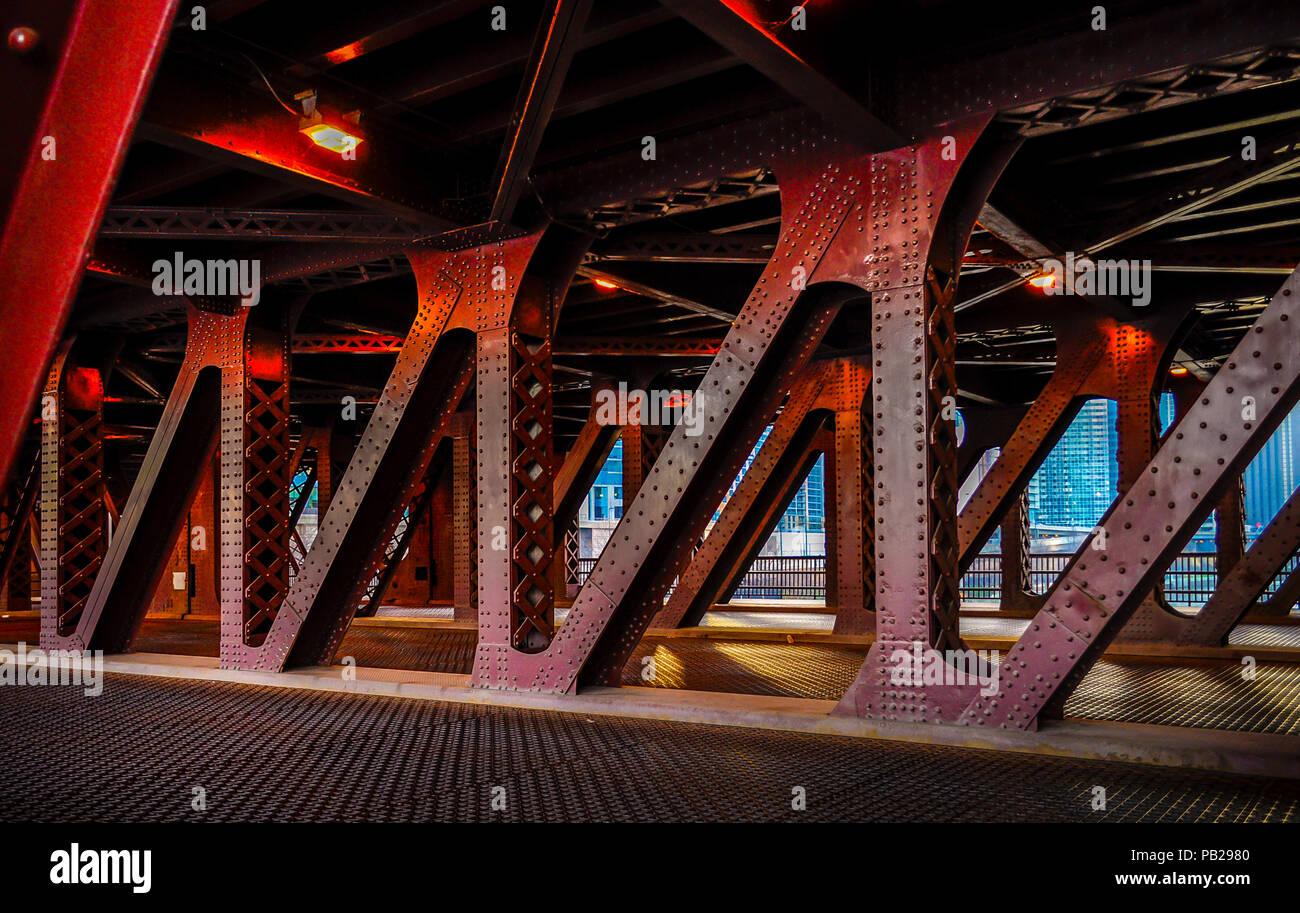 Brücke in Chicago Stockbild