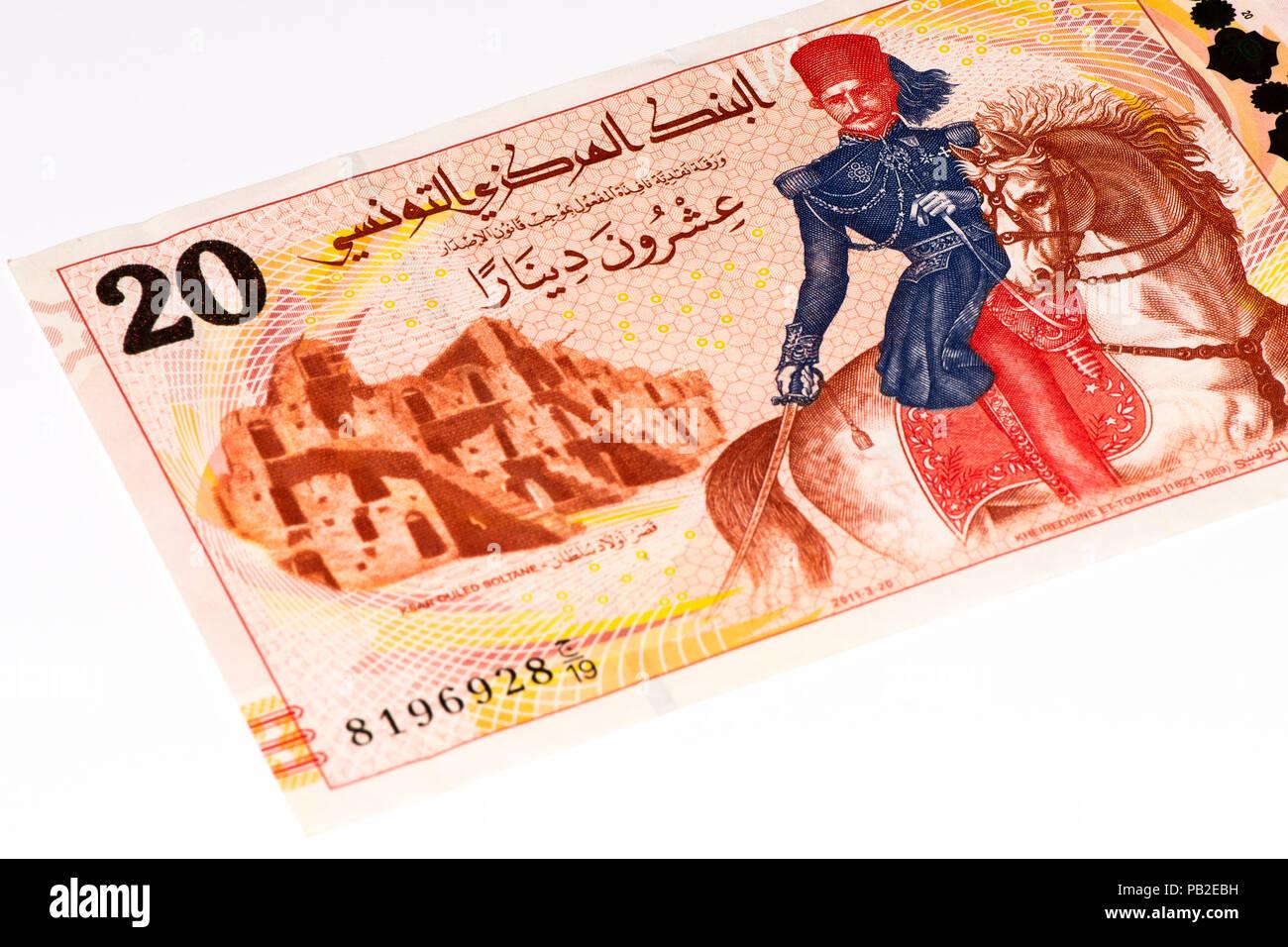20 Tunesische Dinar Bank Note Tunesischer Dinar Ist Die Nationale