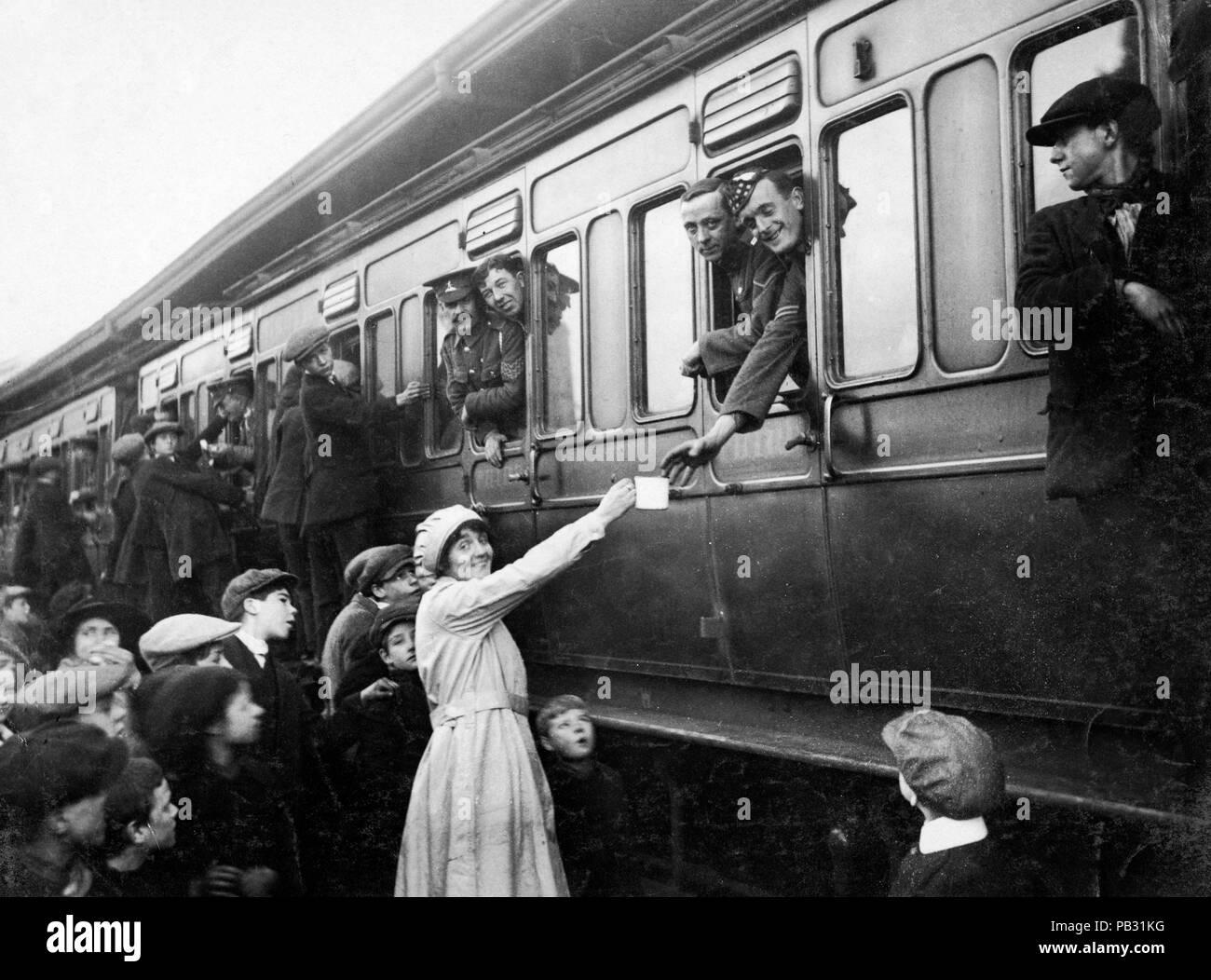 Offizielle Foto auf dem britischen Western Front genommen Stockbild