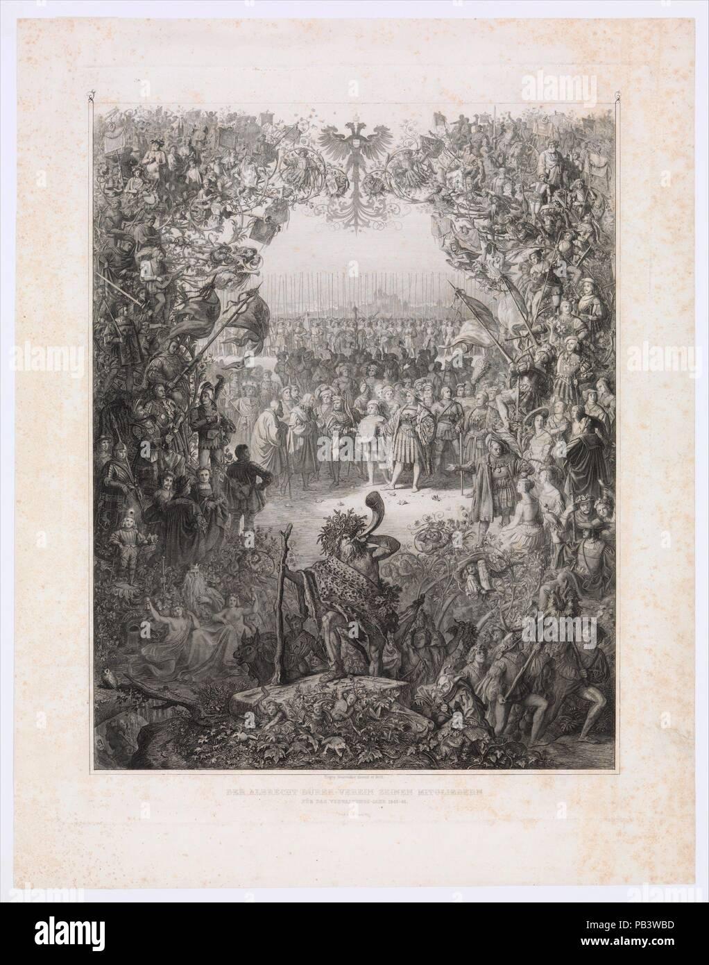Die Mitglieder der Albrecht Dürer Gesellschaft für das Wahljahr 1843 ...