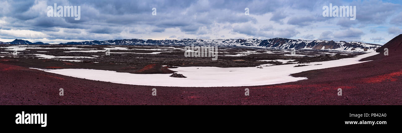 Panoramablick auf die Caldera Feld Stockbild