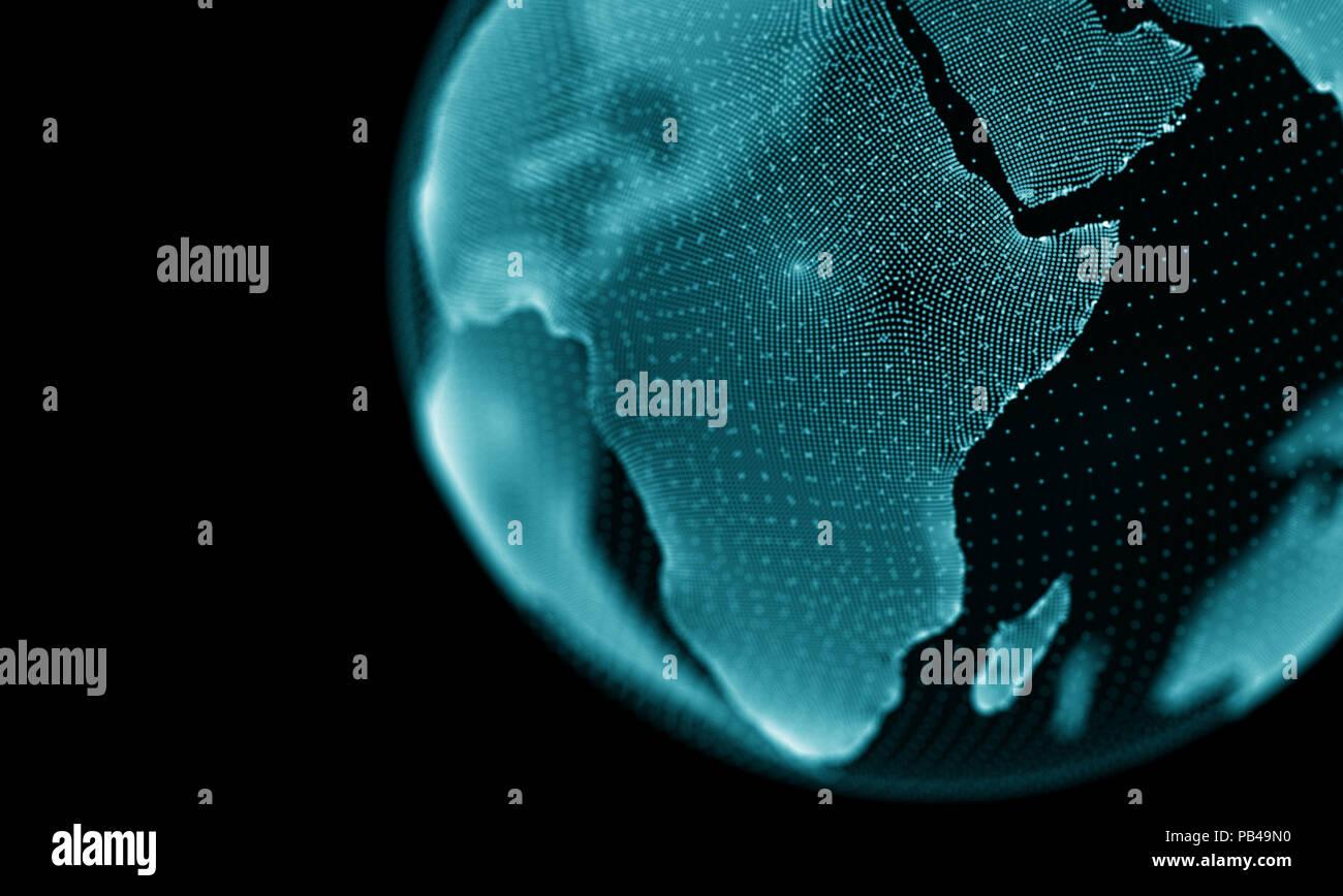 Abstrakt Blau geometrischen Hintergrund. Futuristische Technologie Stil. Leuchtreklame. Futuristische Technologie HUD Element. Elegante Abstrakt Hintergrund. Grosse Daten Visualisierung. Stockfoto