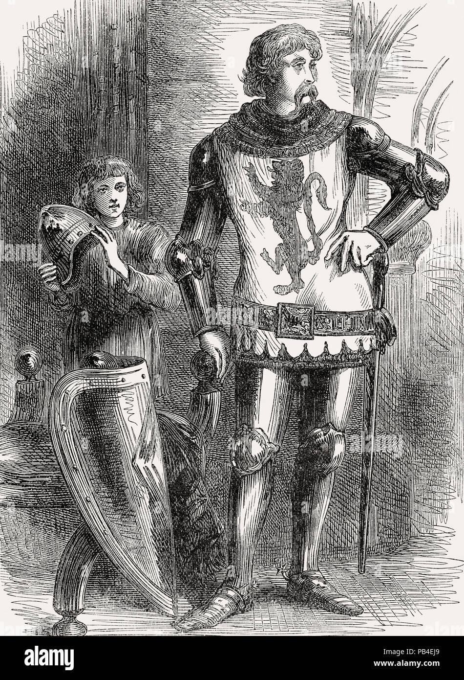 Sir William Wallace, der Führer im Kriege der schottischen Unabhängigkeit vom britischen Schlachten auf Land und Meer, von James Grant Stockbild