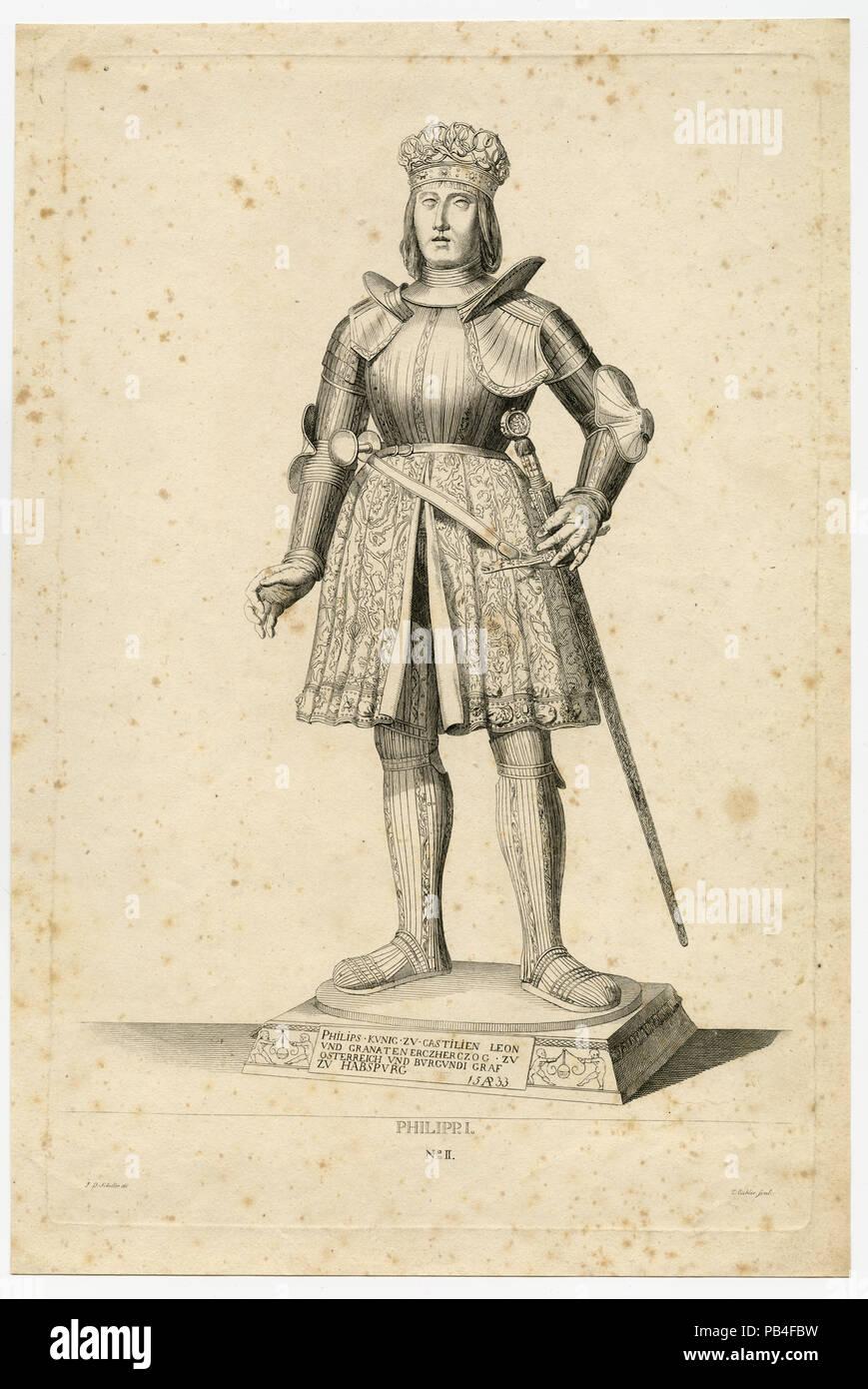 Statue von Philipp I. Stockbild