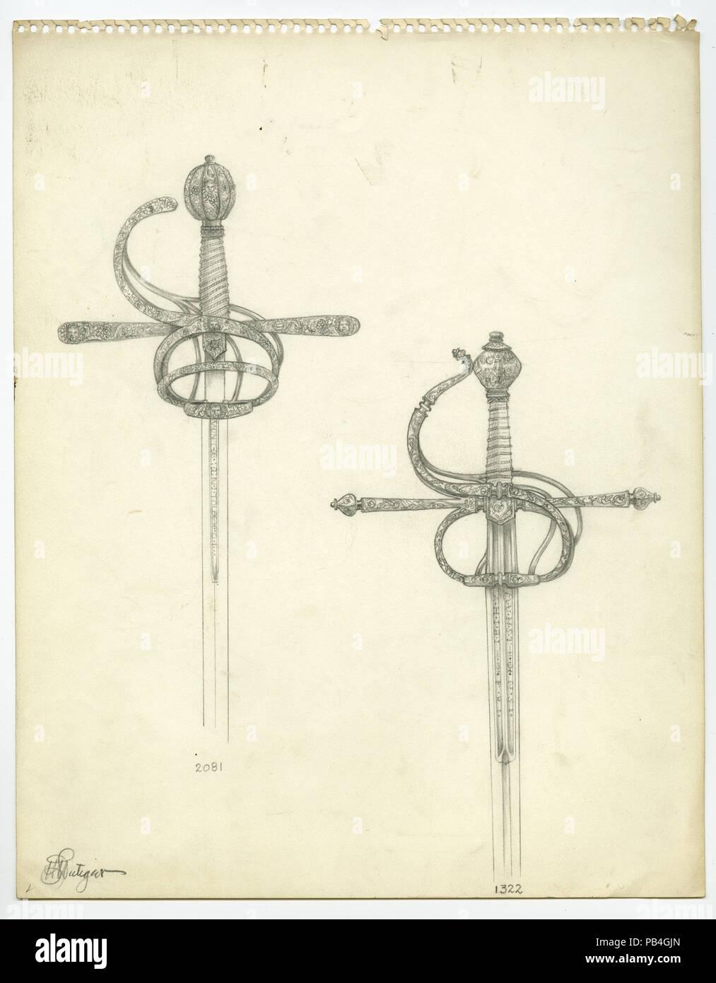 Schwerter durch Lutiger Stockbild