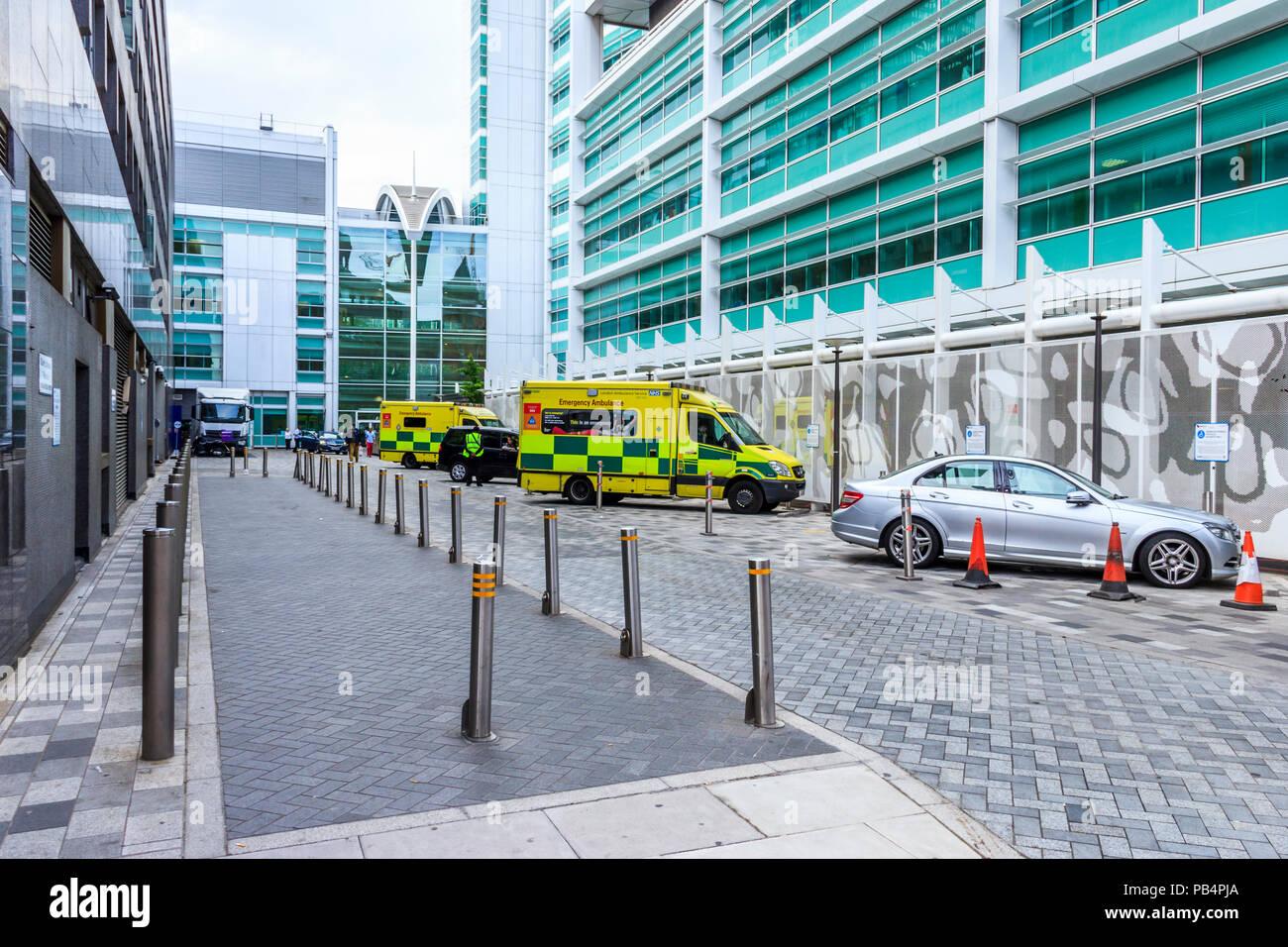 University College Hospital in London, UK Stockbild